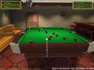 3D Live Snooker screenshot