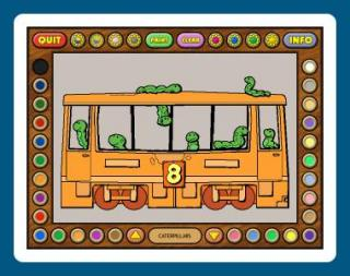 Coloring Book 6: Number Trains screenshot
